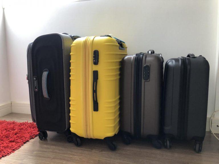 As malas da nossa viagem.
