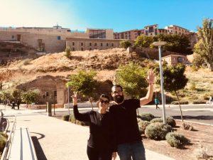 Ju e Marcelo em Toledo na Espanha